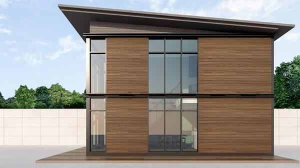 Maison container bois
